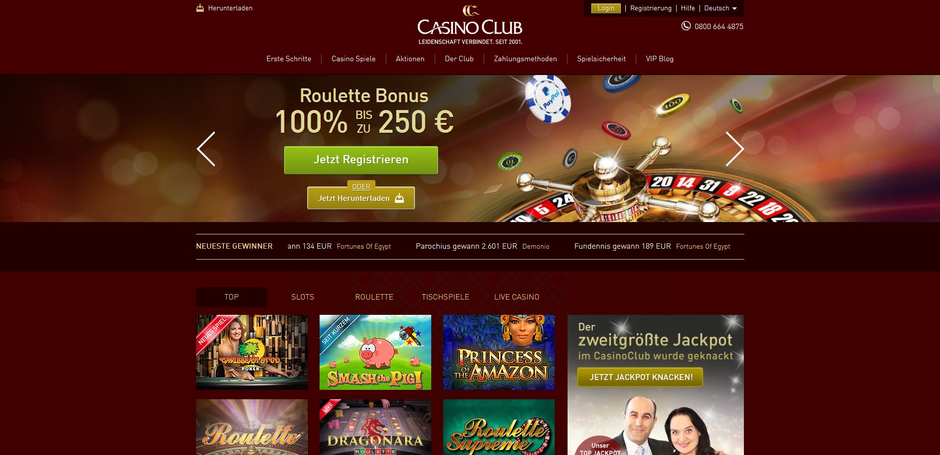 avis casino club