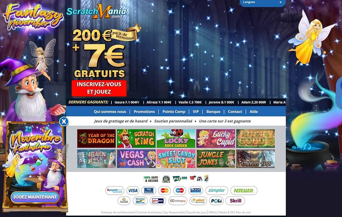 bonus scratchmania casino